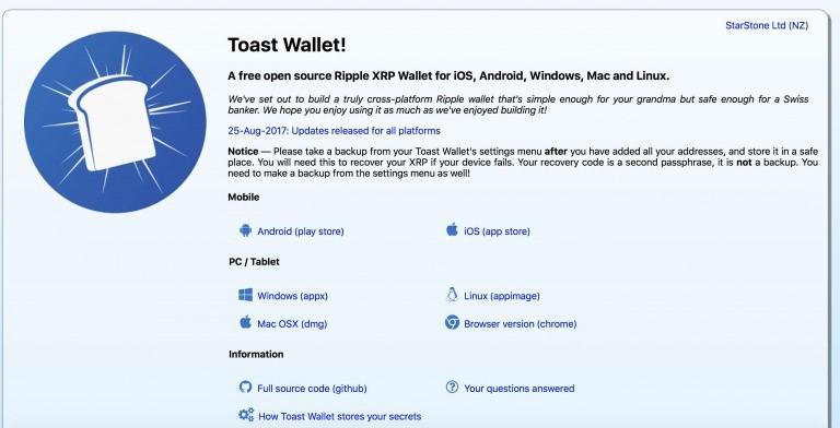 ripple toast wallet